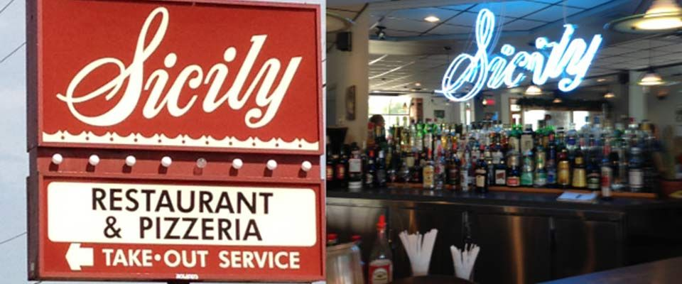 Sicily Restaurant & Pizzeria signs